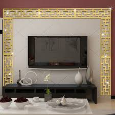 wall decor mirrors promotion shop for promotional wall decor diagonal corner line acrylic mirror wall stickers diy muurstickers home decoration acrylic mirrored decorative sticker