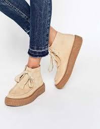 womens boots uk asos asos anyan creeper lace up asos lace up sand womens boots boots