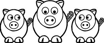3 little pigs look coloring page wecoloringpage