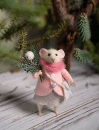 Christmas Mice Decorations Christmas Mice Felted Creatures Pinterest Mice Felting And