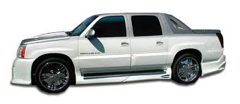 cadillac ext truck 02 06 cadillac escalade ext platinum duraflex side skirts kit