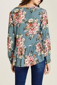 floral blouse staccato peplum floral blouse from washington by lulu s boutique
