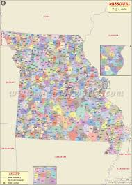 Map Of The State Of Kansas by Missouri Zip Code Map Missouri Postal Code