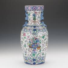 Chinese Markings On Vases Chinese Large Porcelain Famille Verte Vase On Stand Apocryphal