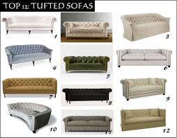 Diamond Tufted Sofa by Top 12 Tufted Sofa U0027s