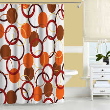 burnt orange shower curtain set shower curtain pinterest