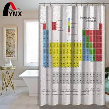 Shower Curtain Chemistry Creative Periodic Table Of Elements Digital Printing Shower