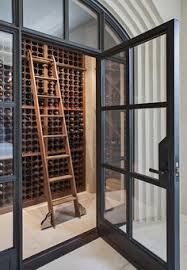 glass basement doors wine storage love the doors as dividers would be great in
