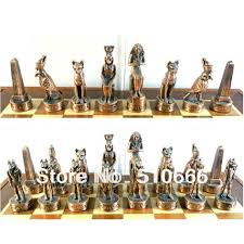 quality international metal chess game ancient egypt theme chess