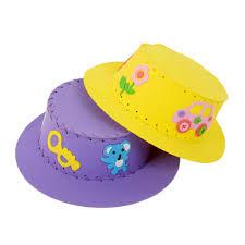1pc cute eva sewing hat puzzle toy handmade kids handcraft sun cap