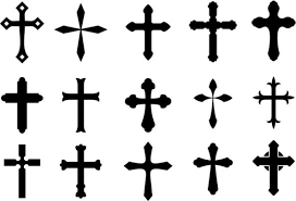 black cross tattoos designs