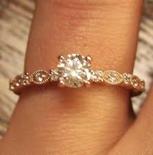 simple vintage engagement rings vintage pink gold engagement rings wedding decorate ideas