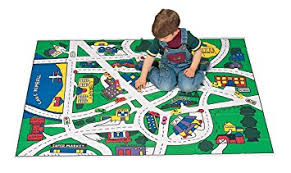 Car Play Rugs Amazon Com Miles Kimball Toy Car Floor Mat Toys U0026 Games