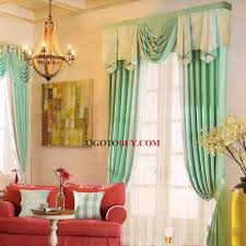 elegant curtains room darkening mint green pattern print no
