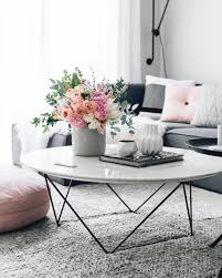 Coffee Table Decorating Ideas by Living Room Oval Top Wood Coffee Table With Decorative Flower