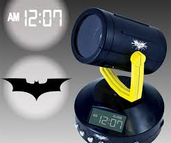 Clock That Shines Time On Ceiling by Batman Signal Projection Alarm Clock Dudeiwantthat Com