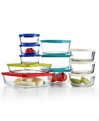 pyrex 22 piece food storage container set created for macy u0027s
