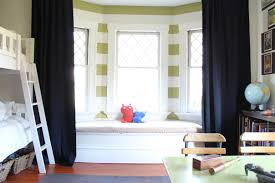 Curtains For Bunk Bed Bedroom Fabulous Bay Window Sitting Space With Cute Dolls On It