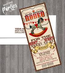 western themed baby shower invitations