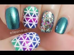 geometric nails choose striping tape or nail striper youtube
