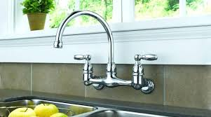 wall mount kitchen faucet lowes kingston brass with sprayer single
