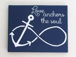 Quot Love Anchors The Soul - love anchors the soul nautical sign painted custom canvas