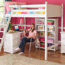 maxtrix kids grand 3 giant 3 full high loft bed with long desk