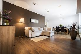 brown colour combination for large living room layout with dining