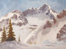 painting demonstration snow in the mountains learn 2 paint