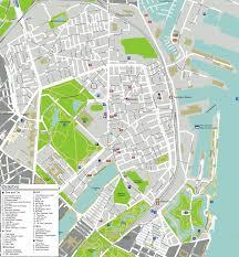map of copenhagen copenhagen oesterbro map mapsof