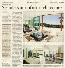 Los Angeles Times Home And Design Seamless Mix Of Art Architecture Marshootz Productions