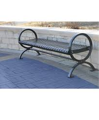 warehouse bench classic loop end strap metal backless bench park warehouse
