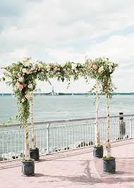 Wedding Arch Nyc Floral Chic New York City Wedding Modwedding