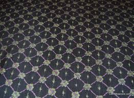 Vintage Drapery Fabric K235 Vintage Ralph Lauren Floral Printed Light Weight Silk Black