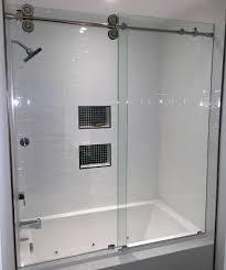 shower amazing glass shower barn door vigo 60 inch clear glass