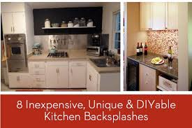 inexpensive backsplash ideas for kitchen eye 8 inexpensive unique and diyable backsplash ideas curbly