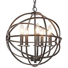 Black Metal Chandeliers Benita 5 Light Antique Black Metal Tube Globe Chandelier