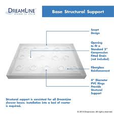 dreamline slimline 36 in x 48 in threshold shower base
