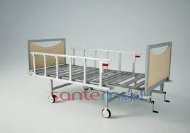 Hospital Bed Rails Stm 5242 Manual Hospital Bed With Two Cranks And Foldable Side Rails