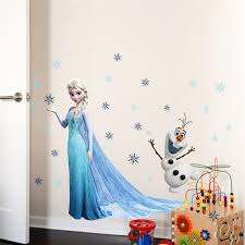 Aliexpresscom  Buy Elsa Olaf Snowflake Wall Stickers For Girls - Stickers for kids room