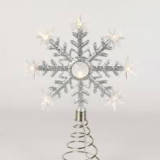 8 point led battery snowflake tree topper