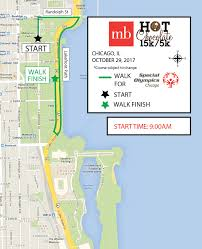 Chicago Il Map Course Allstate Chocolate 15k 5k Chicago