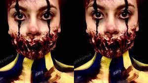 killer clown makeup halloween scary zombie killer clown makeup youtube