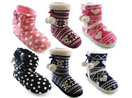 womens boot slippers uk womens slipper boots booties slippers knitted or fleece