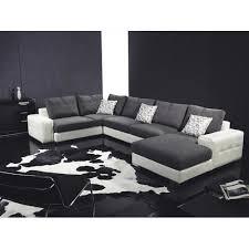 canapé contemporain starlight canape contemporain tissu pu 320x190x140 achat vente