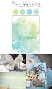 Beach Wedding Invitation Cards Ocean Watercolor Wedding Invitation Inspiration Board Blue Green
