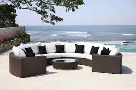 canapé tressé jardins et terrasses canapé extérieur demi cercle résine tressée