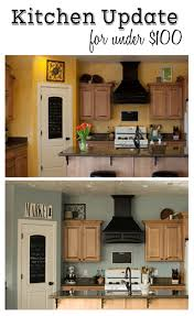 Greenery Above Kitchen Cabinets Decorating The Space Above The Cabinets At Creatingthislife Com