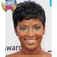 shortcut for black hair new pixie cut human cheap hair wig rihanna black short cut wigs