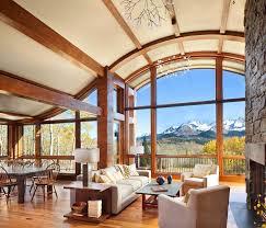 colorado mountain cabin perfectly frames views of mount wilson